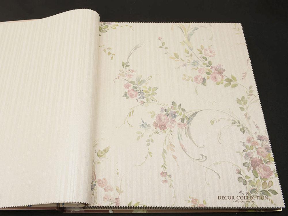 Виниловые обои на бумажной основе Zambaiti Satin Flowers - Z4167