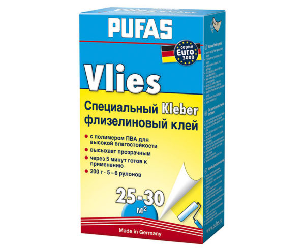 Клей для флизелиновых обоев Pufas 200г - 19010/200
