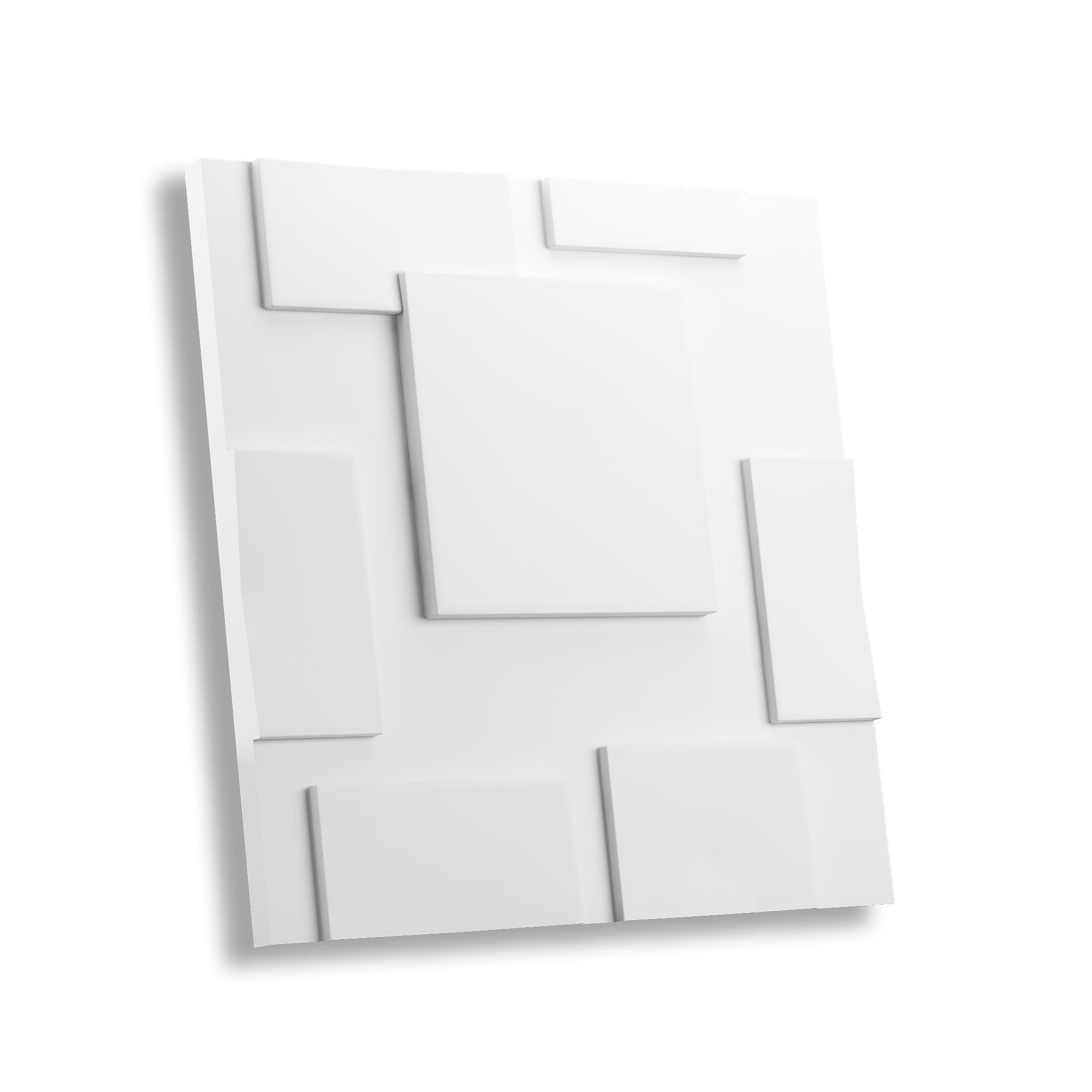 Гипсовая 3D панель КВАДРАТЫ