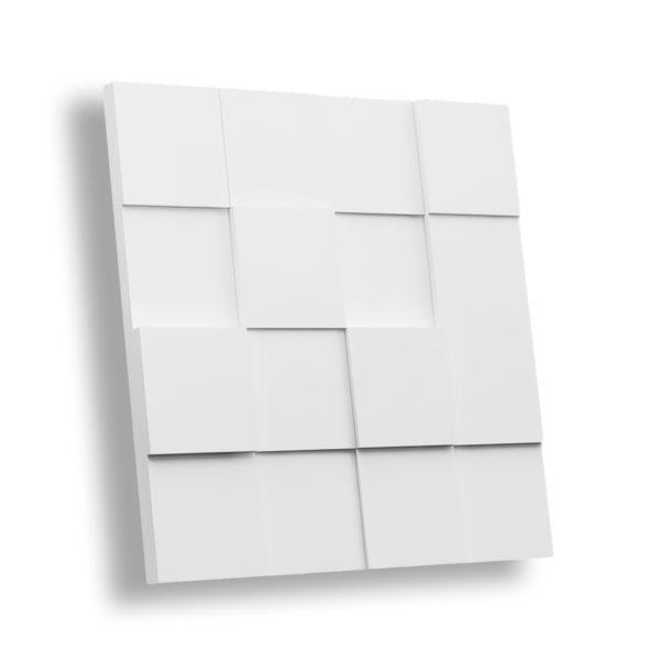 Гипсовая 3D панель КВАДРАТ РАЗНОУРОВНЕВЫЙ